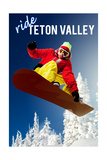 Teton Valley  Idaho - Snowboarder