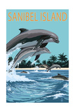 Sanibel Island  Florida - Dolphins Jumping