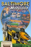Baltimore  Maryland - Baseball Montage