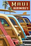 Woodies Lined Up - Maui  Hawaii