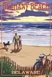 Bethany Beach  Delaware - Beach and Sunset