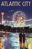Atlantic City - Steel Pier at Night