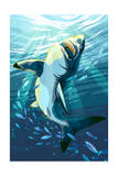 Stylized Great White Shark