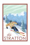 Stratton  Vermont - Downhill Skier Scene