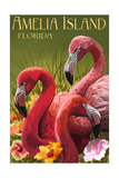 Amelia Island  Florida - Flamingos