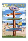 Lewes  Delaware - Destination Signpost