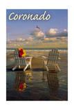Coronado  California - Adirondack Chairs on the Beach