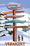 Okemo Mountain Resort  Vermont - Ski Sign Destinations