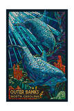 Outer Banks  North Carolina - Bottlenose Dolphin Mosaic