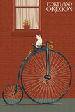 Portland  Oregon - Bicycle and Cat