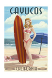 Cayucos  California - Pinup Surfer