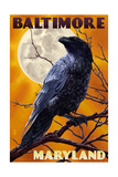 Baltimore  Maryland - Raven and Moon