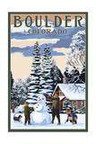 Boulder  Colorado - Snowman Scene