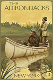 The Adirondacks  New York - Hunters in Canoe