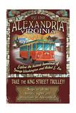 Alexandria  Virginia - Trolley Vintage Sign