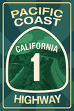 Highway 1  California - Pacific Coast Highway Sign