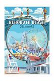 Rehoboth Beach  Delaware - Montage