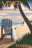 Venice  Florida - Adirondack Chair on the Beach