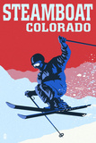 Steamboat  Colorado - Colorblocked Skier