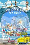 Wildwood  New Jersey - Montage