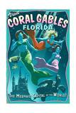 Coral Gables  Florida - Live Mermaids