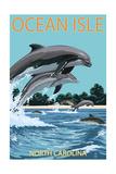 Ocean Isle - Calabash  North Carolina - Dolphins Jumping