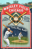 Chicago  Illinois - Wrigley Field Vintage Sign