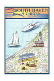South Haven  Michigan - Nautical Chart