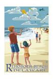 Rehoboth Beach  Delaware - Kite Flyers