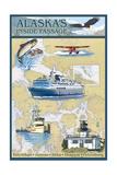 Inside Passage  Alaska - Nautical Chart
