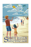 South Haven  Michigan - Kite Flyers