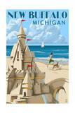 New Buffalo  Michigan - Sandcastle