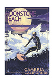 Moonstone Beach - Cambria  California - Night Surfer