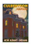 New Albany  Indiana - Culbertson Mansion and Moon