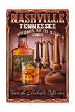 Nashville  Tennessee - Whiskey Vintage Sign
