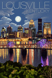 Louisville  Kentucky - Skyline at Night