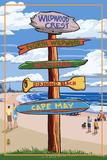 Wildwood Crest  New Jersey - Destination Sign