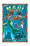 Mermaid Vintage Sign - Maui  Hawaii