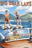 Big Bear Lake  California - Waterskiers