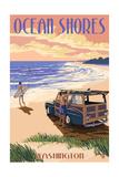 Ocean Shores  Washington - Woody on Beach