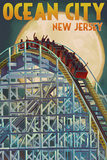 Ocean City  New Jersey - Roller Coaster and Moon