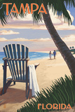 Tampa  Florida - Adirondack Chair on the Beach