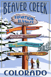 Beaver Creek  Colorado - Ski Signpost
