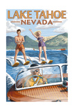 Lake Tahoe  Nevada - Water Skiing Scene