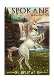 Spokane  Washington - Unicorn Scene