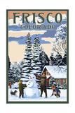 Frisco  Colorado - Snowman Scene