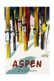 Aspen  CO - Colorful Skis