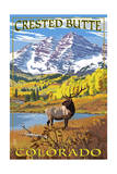 Crested Butte  Colorado - Maroon Bells and Elk