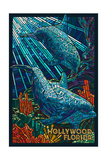 Hollywood  Florida - Dolphins Mosaic