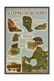 Sleeping Bear Dunes  Michigan - Sleeping Bear Dunes Legend Map